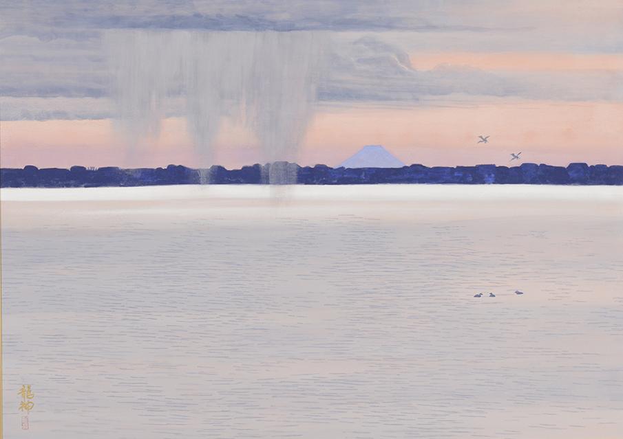 しぐれる湖上 飛澤龍神