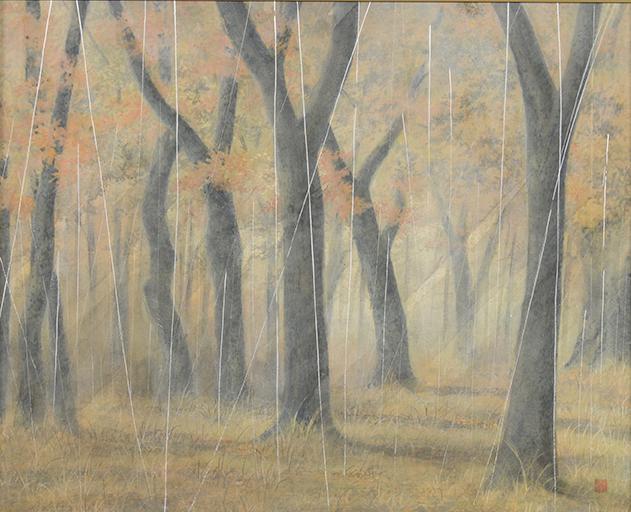 秋時雨 白石繁馬