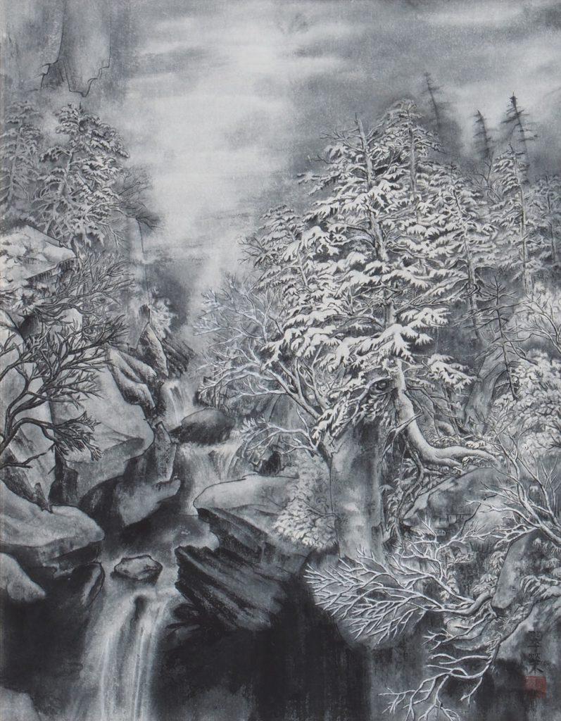 雪の峡谷 大槻ヨシ子