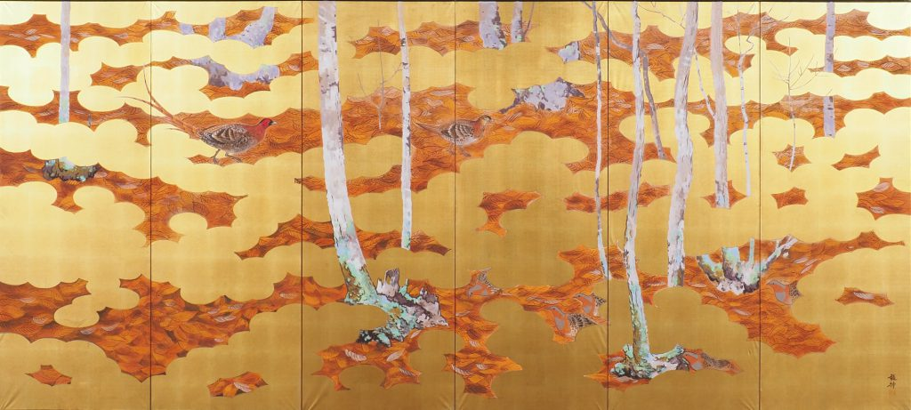 四季花鳥図 冬    飛澤龍神