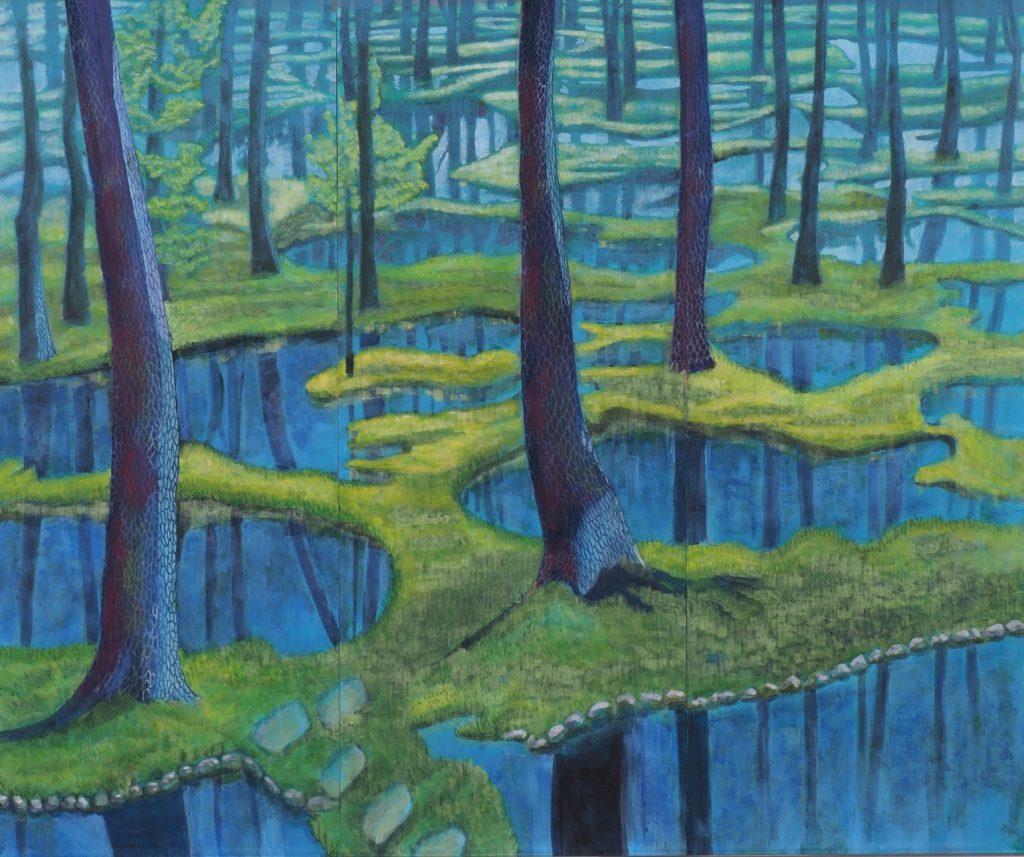 木々と水のコラボ       佐藤壽子