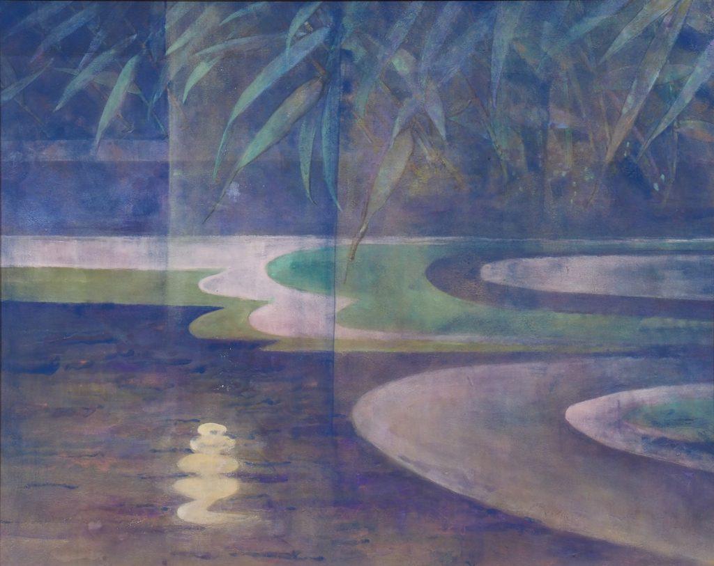 月あかり    戸﨑靖子   悠久の水の流れや月おぼろ     句 高杉桂子