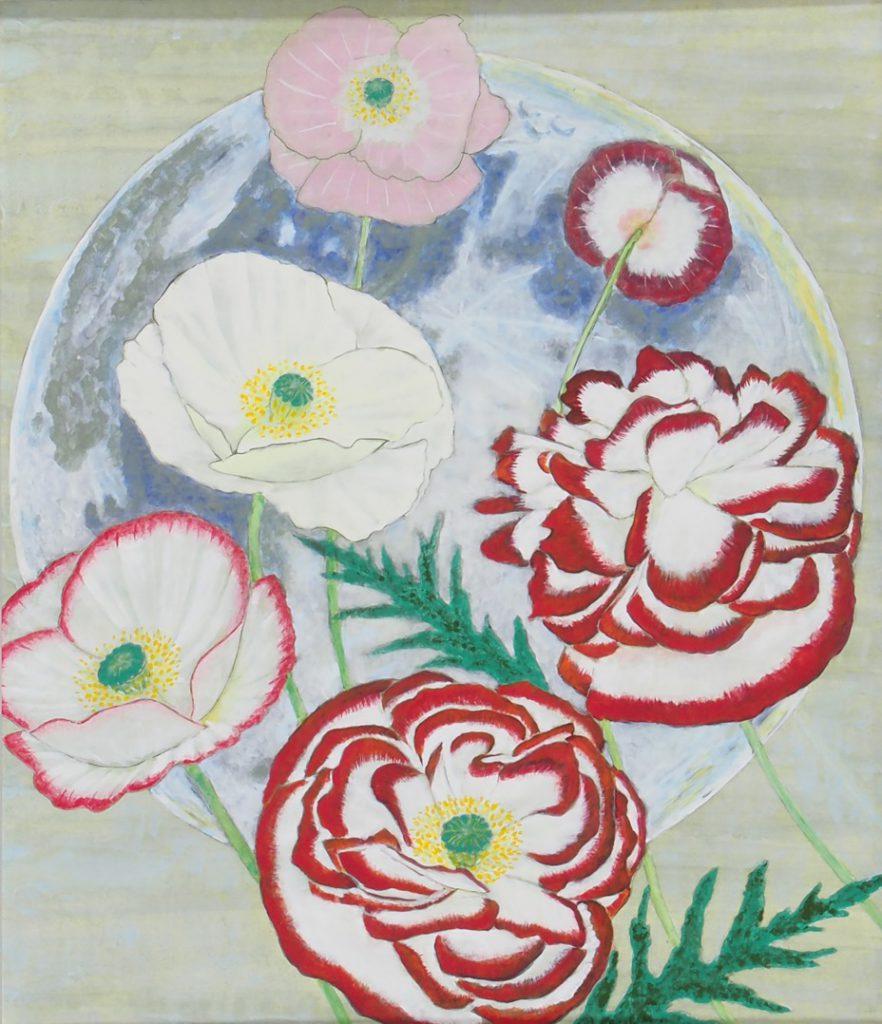 花と月     和島裕子    月白や華燭の卓の銀食器     句 千葉日出代
